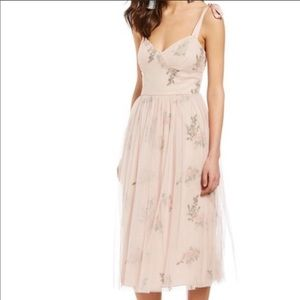 NWT Chelsea & Violet Floral Tulle Overlay Dress